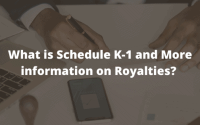 What is Schedule K-1 and More information on Royalties? ITIN for 8805 and Royalty Income